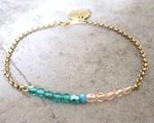 Delicate Charm Bracelet-Dainty Jewelry-Personalized Bracelet-Initial Charm Bracelet-Gift Jewelry-Minimalist Jewelry-Monogram-Free Shipping