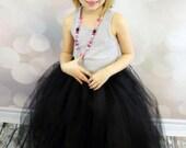 Full length black tutu skirt. Long tutu.