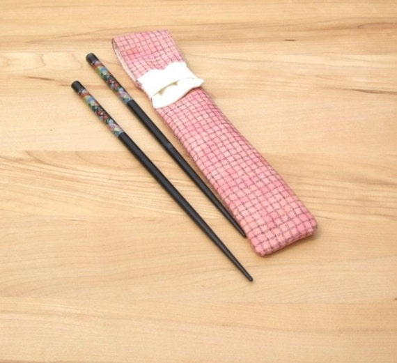 Knitting Needles Novelty : Needle pouch unique chopstick carrier crochet hook bag