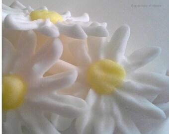 Sugar Flowers Sugar Daisies Royal Icing Flowers Royal Icing Daisies Wedding, Christening, White,Yellow Edible Daisy Style  Flowers
