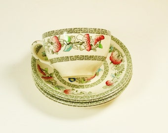 Johnson Brothers Indian Tree Teacup and Saucers