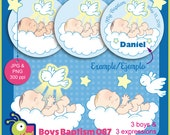 60% off Baptism, baby boys and dove clipart for favors, decorations, invites, gifts, cards, centerpieces, Holy Spirit clipart, set 087