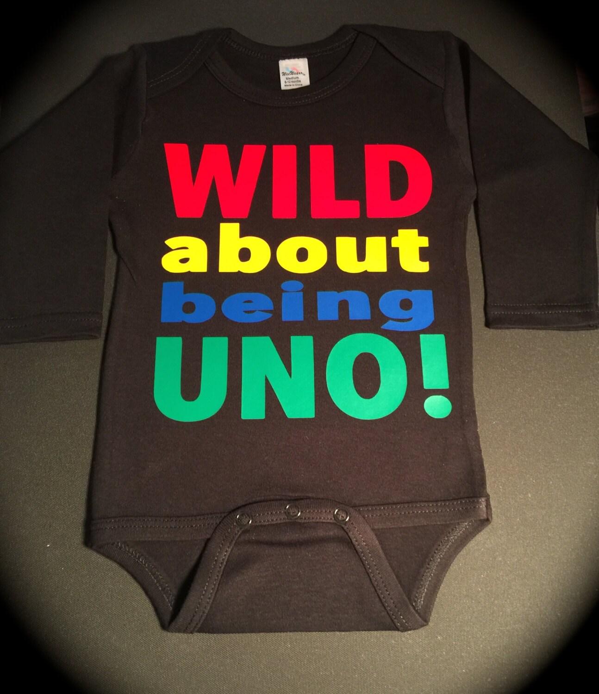 WILD About Being UNO Black One Piece Or T-shirt UNO Birthday