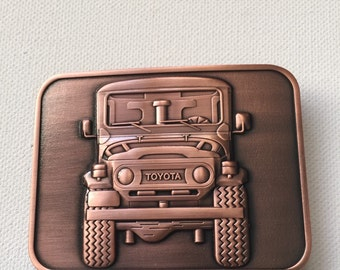 Toyota FJ40 FJ45 landcruiser antique finish belt buckle LIMITED