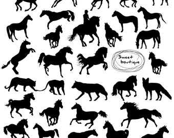 Silhouette horse, Digital horse cliparts, Digital animal Silhouette, Clip Art Digital,ClipArt Animal,Silhouettes Clipart,Digital horses 0897