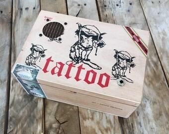 Cigar Box Portable Speaker, Tattoo Adibino