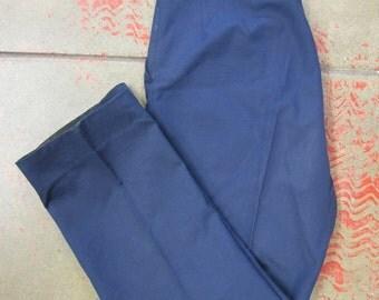 Gabardine Pants // 50s Clothing // Wool Twill Blend // Blue Trousers // Mens Slacks // 1950s Pants // Button Fly // 40 WAIST // LARGE