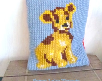 puppy pillow with embroidery top