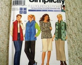 Vest, Pants, Skirt and Knit Top,  Simplicity No. 9391 Uncut, factory folded, Sizes 26W to 32W Included
