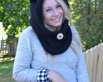 Adult Sized Bear Hooded Cowl