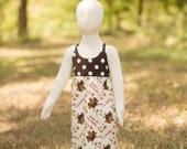 Fall Thanksgiving Turkey Autumn Polka Dot Dress - Baby Girl