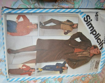 SImplicity 6164  Misses Go Everywhere Pants Skirt Shirt and Unlined Jacket or Vest Sewing Pattern UNCUT Size 16