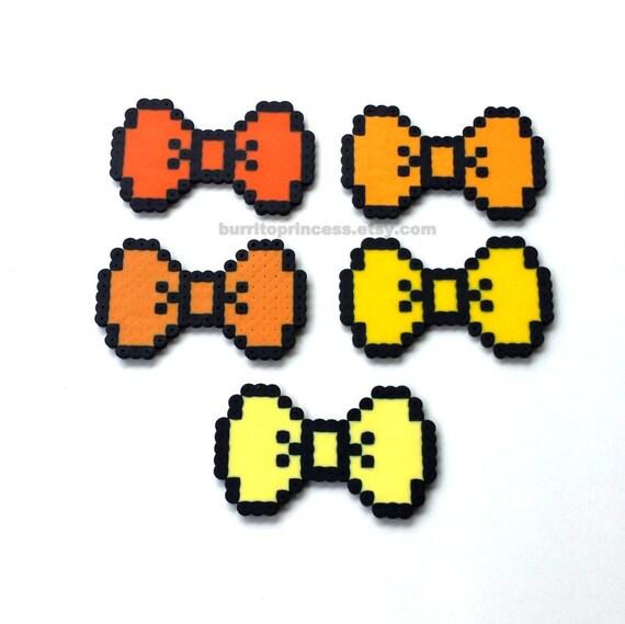 8 Bit Bows 8 Bit Hair Bows 8 Bit Bow Ties Pixel Hair