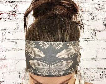 Yoga Headband - Boho Butterfly - Brown - Eco Friendly