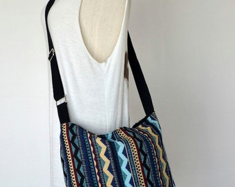 Woven Messenger Bag Tribal Bag Bohemian Handbags Diaper Bag Purse Cotton Bag Hippie Bag Boho Hobo Bag Shoulder Bag Hmong Bag EB02