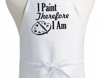 Painting/artist bib apron - original design poly cotton blend apron - classic chef quality kitchen apron - workshop craft painters apron