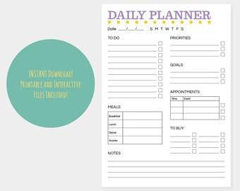 interactive weekly planner