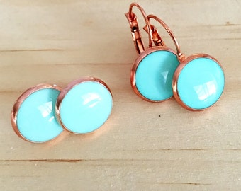Mint in Copper Dangle OR stud Earrings