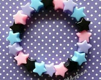 SALE! Night Sky Star Bracelet-Creepy Cute- Lolita- Kawaii- Gothic- Pastel Goth- Gothic Lolita- Sweet Lolita-JFashion- Harajuku- Fairy Kei