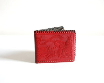 Red Tooled Billfold