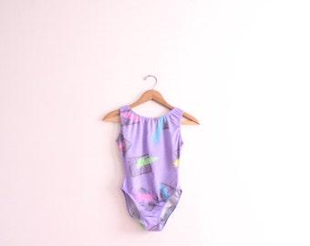 Pastel Scribble 80s Bathing Suit