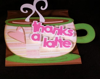 Thanks a Latte Easel Card