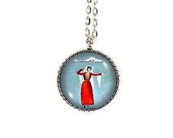 Armenian Dancer, Mount Ararat, Armenian Jewelry, Mt Ararat, Armenia Art, Masis Ararat, Dancer Necklace, Armenian Girl,