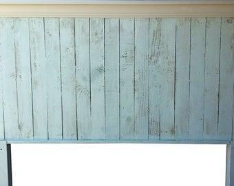 Queen Size Pallet Wood Headboard - Coastal Feel