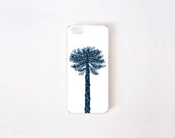 iPhone 5/5s Case - Araucaria iPhone Case - Floral iPhone Case - White Araucaria - Flor de Chile Special Collection
