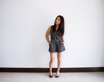 Minimalist grey romper / jumpsuit / dress / shorts / skort