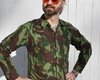Vintage Camo Shirt, Field Shirt, Safari Style