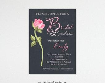 Bridesmaid Luncheon Invitations, bridal lunch, brunch, chalkboard, rehearsal, dinner, shower, wedding, digital, printable, invite BL7231