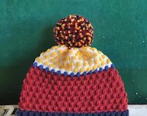 Pinocchio Detachable PomPom Beanie Hat | for men | for women | colorful & cozy | handmade unisex gift