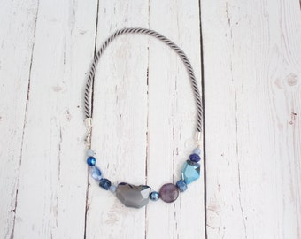 The August - Blues - Mixed Stone Rope Necklace
