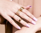 Queen Vintage Candy Jewel Ring - gold midi ring, gold ring