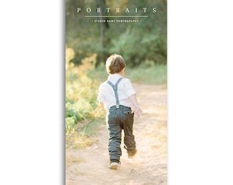 Photography Marketing Card Template - 4x8 Rack Card Template - For Photographers - JOY - 1555