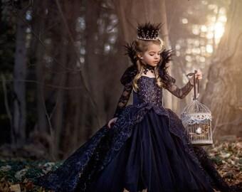 Feather Rhinestone Tiara - Evil Queen or Swan Princess Tiara