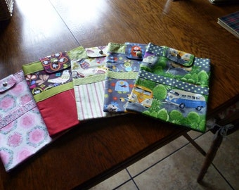IPAD covers in five different colours and patterns