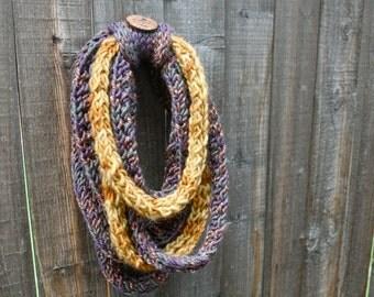 Knit Infinity Scarf, Handmade Scarf, Chunky Knit Scarf, Chunky Scarf, Bulky Scarf, Bulky Infinity Scarf, Bulky Knit, Bulky Cowl, Chunky cowl