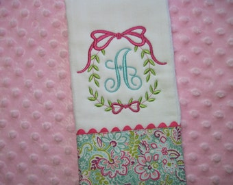 Personalized Baby Girl Burp Cloth