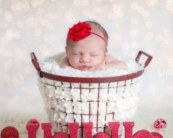 Ready to Ship-Christmas Headband-Headband-Red Headband-Baby Girl Headband-Headband-Christmas Baby Headband-Baby Headband-Headband-Baby