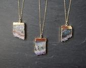 Amethyst Necklace ⊿ Amethyst Stalactite ⊿ Gold Amethyst ⊿ February Birthstone ⊿ Amethyst Slice ⊿ Amethyst Pendant