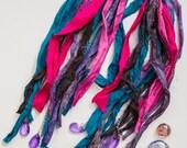 SALE BARGAIN 50% OFF Romani Stunning Unique Ragged Tattered Earrings Hippie Bohemian Alternative Festival Free Trade