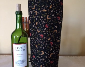 Wine Tote - Quilted Tote Bags - Wine Bags - Wine Gift Bag - Wine Tote Bag - Bottle Bag - Gift Bags - Tote Bag - Gift Bag with Handles - Bags