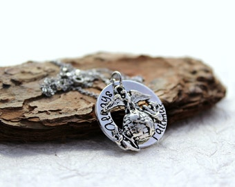 Always Faithful Necklace - USMC Wife - Marine Wife Necklace - Marine Girl Friend - Marine Mom - EGA Necklace - Semper Fi - Marine Jewelry