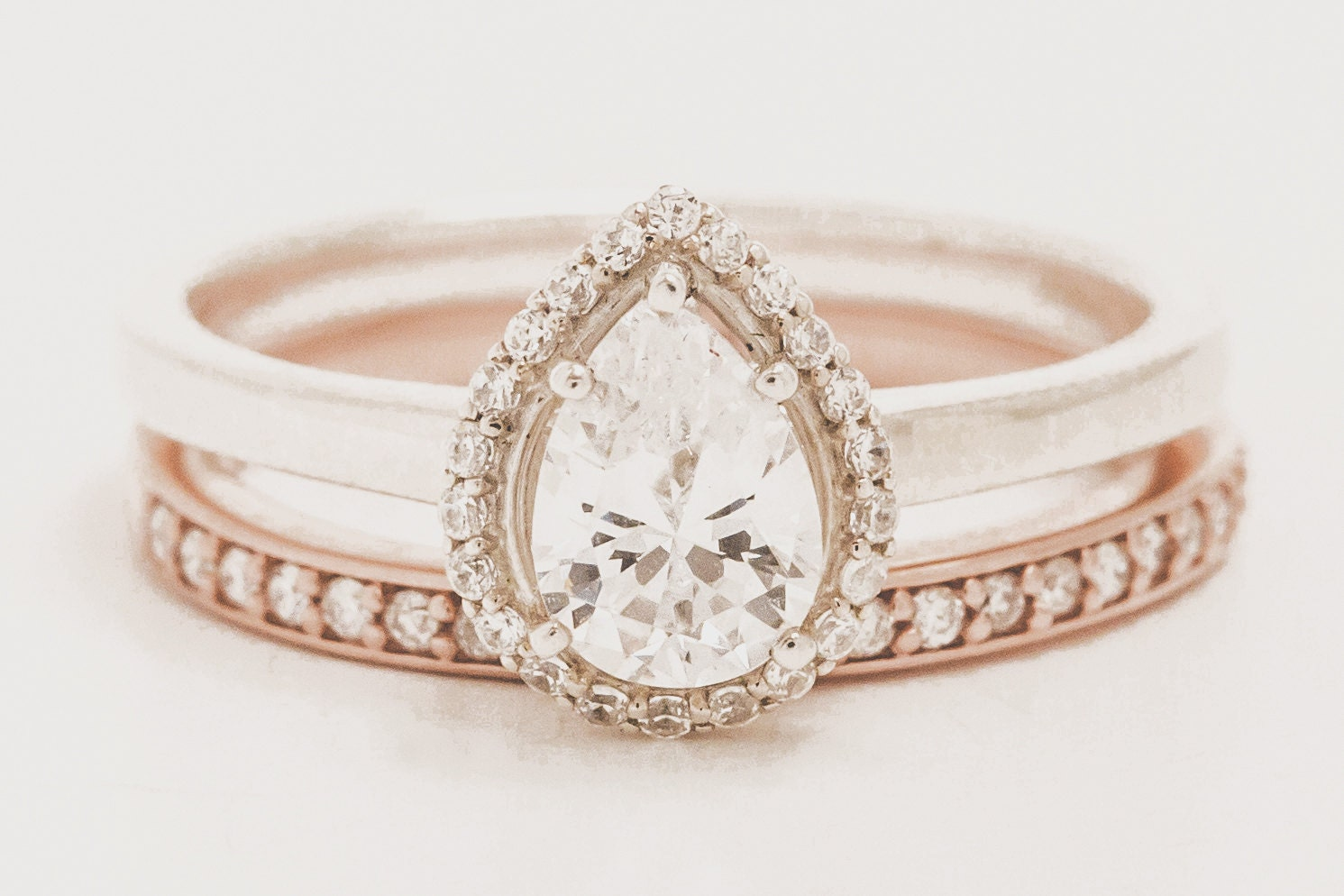 pear engagement ring pear halo engagement ring by. Black Bedroom Furniture Sets. Home Design Ideas