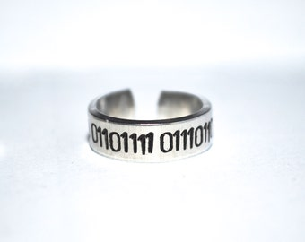 Binary Custom Aluminum Adjustable ring .