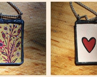 Tiny *One of a Kind* Painting Necklace
