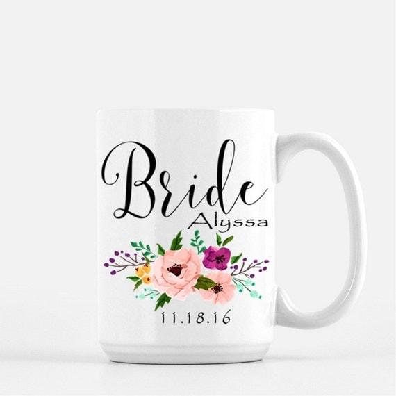 Wedding Gift Coffee Mugs : Bride Coffee Mug, Bridal Gift, Wedding Gift, Bride Coffee Mugs, Custom ...
