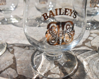 Bailey's Drinking Glasses - Medium Size Set of 6 Baileys on the Rocks Glasses - Free US Shipping